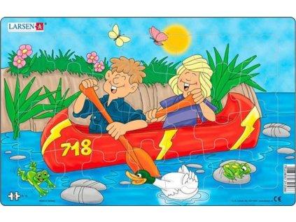 LARSEN Puzzle Zábava na kanoi 28 dílků