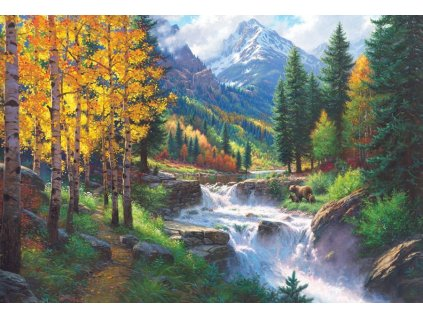COBBLE HILL Puzzle Vznešená hora Rocky Mountain 2000 dílků
