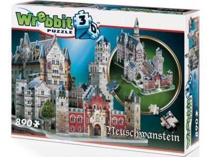 WREBBIT 3D puzzle Zámek Neuschwanstein 890 dílků