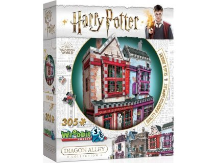 WREBBIT 3D puzzle Harry Potter: Prvotřídní potřeby pro famfrpál a Slug & Jiggers Apothecary 305 dílků