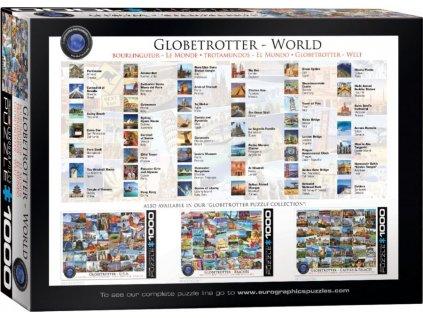 EUROGRAPHICS Puzzle Světoběžník - celý svět 1000 dílků