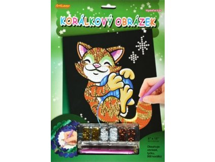 ARTLOVER Korálkový obrázek Kočička 20x25cm