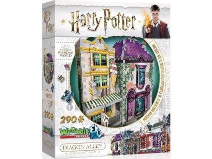 WREBBIT 3D puzzle Harry Potter: Madam Malkinová - Oděvy pro každou příležitost a Zmrzlinářství Florea