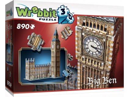 WREBBIT 3D puzzle Big Ben a Westminsterský palác 890 dílků
