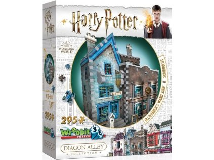 WREBBIT 3D puzzle Harry Potter: Obchod s hůlkami pana Olivandera a Scribbulus 295 dílků