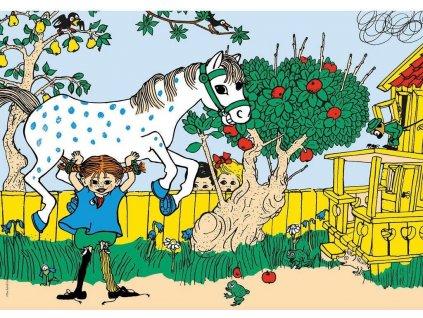CLEMENTONI Puzzle Pippi dlouhá punčocha 30 dílků