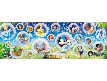 CLEMENTONI Panoramatické puzzle Disney kolekce 1000 dílků