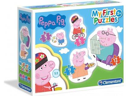 CLEMENTONI Moje první puzzle Prasátko Peppa: Rodina 4v1 (3,6,9,12 dílků)