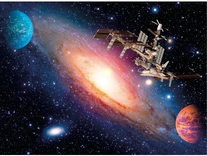 CLEMENTONI Puzzle Mezinárodní vesmírná stanice 500 dílků