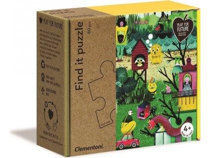 CLEMENTONI Play For Future Puzzle s hledáním obrázků Podzim 60 dílků