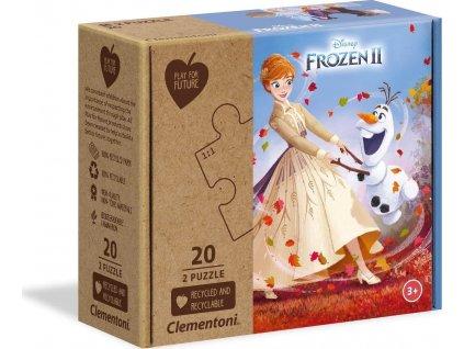CLEMENTONI Play For Future Puzzle Ledové království 2, 2x20 dílků
