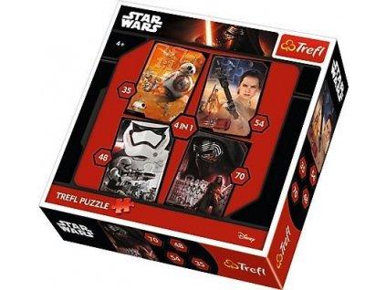 TREFL Puzzle Star Wars: Epizoda 7, 4v1 (35,48,54,70 dílků)