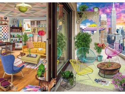 RAVENSBURGER Puzzle New York City Apartment 1000 dílků