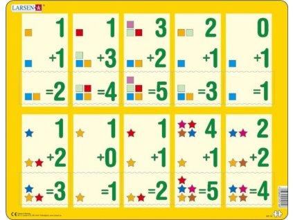 LARSEN Puzzle Sčítání do pěti 10 dílků
