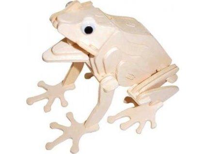 WOODEN TOY , WCK 3D puzzle Žába