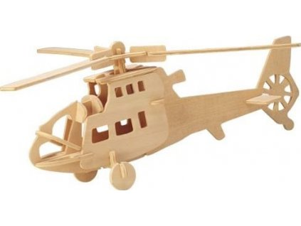 WOODEN TOY , WCK 3D puzzle Bojový vrtulník