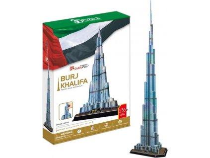 CUBICFUN 3D puzzle Burj Khalifa 136 dílků