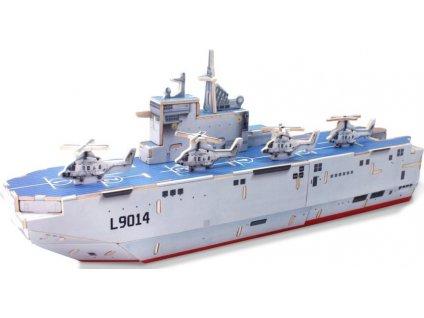 ROBOTIME 3D puzzle Vrtulníková loď Mistrál barevná 67 dílků