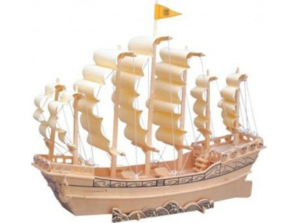 WOODEN TOY , WCK 3D puzzle Plachetnice Dynastie Ming