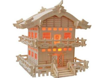 WOODEN TOY , WCK 3D puzzle Japonská chatka E