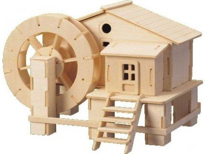 WOODEN TOY , WCK 3D puzzle Vodní mlýn