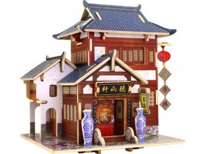 ROBOTIME 3D puzzle Čínská čajovna barevná 40 dílků