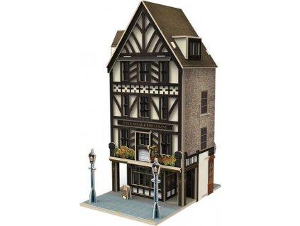 CUBICFUN 3D puzzle Anglická restaurace 44 dílků