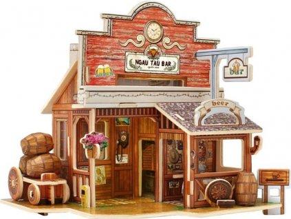 ROBOTIME 3D puzzle Americký bar barevný 48 dílků