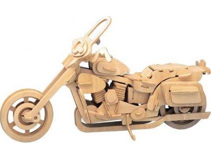 WOODEN TOY , WCK 3D puzzle Motorka Harley Davidson II.