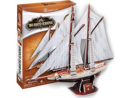 CUBICFUN 3D puzzle Dvoustěžňová plachetnice 81 dílků