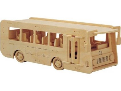 WOODEN TOY , WCK 3D puzzle Autobus