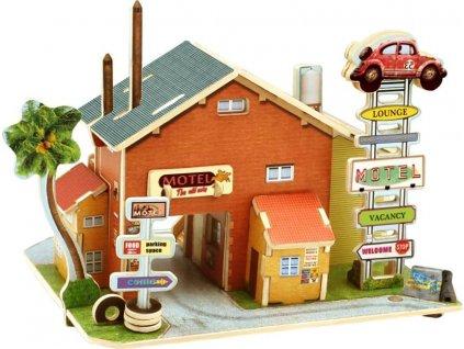 ROBOTIME 3D puzzle Americký motel barevný 52 dílků