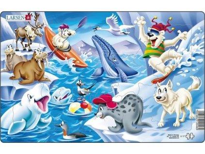 LARSEN Puzzle Arktické koupání 17 dílků
