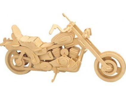 WOODEN TOY , WCK 3D puzzle Motorka Harley Davidson