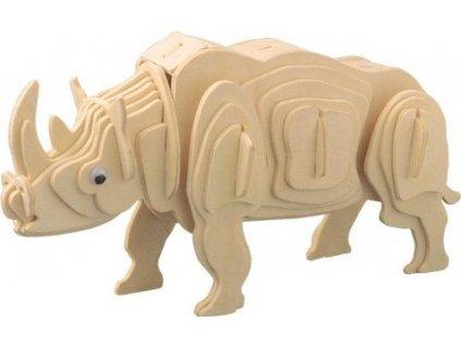 WOODEN TOY , WCK 3D puzzle Bílý nosorožec
