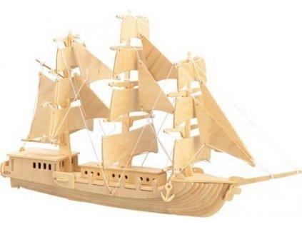 WOODEN TOY , WCK 3D puzzle Evropská plachetnice