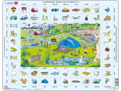 LARSEN Puzzle Angličtina 4: Prázdniny na venkově 70 dílků