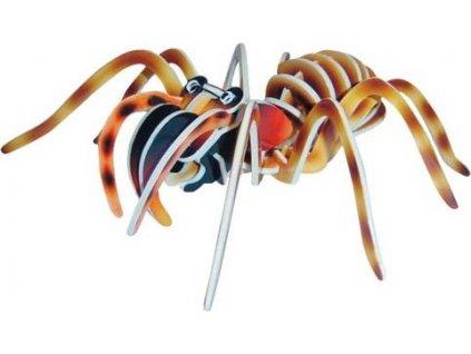 WOODEN TOY , WCK 3D puzzle Tarantule barevná