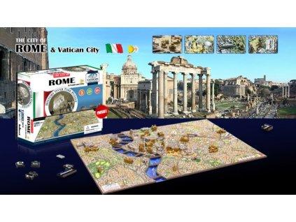 4D Cityscape 4D puzzle Řím a Vatikán
