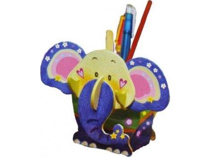 ARTLOVER 3D puzzle Stojánek na tužky Slon s barvičkami