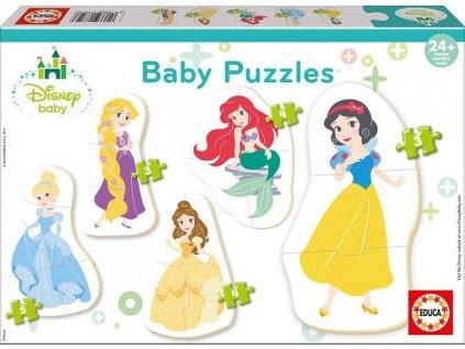 EDUCA Baby puzzle Disney Princezny 5v1 (3-5 dílků)