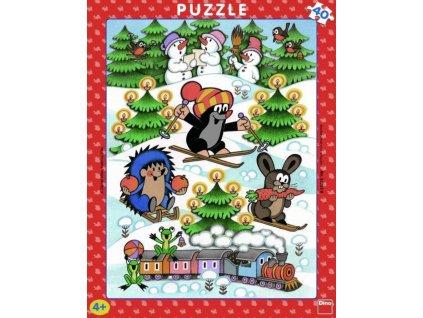 DINO Puzzle Krtek na sněhu 40 dílků
