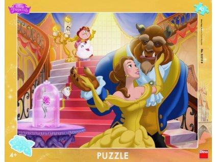 DINO Puzzle Kráska a zvíře 40 dílků