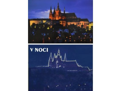 DINO Svítící puzzle Večerní Praha 1000 dílků