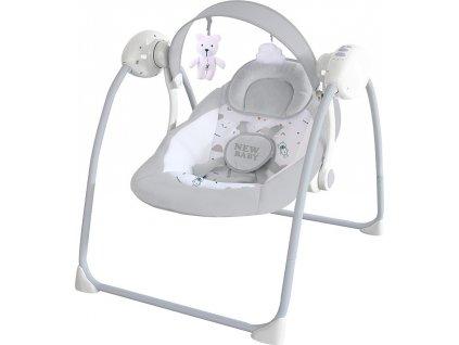Dětské houpací lehátko NEW BABY TEDDY Gray