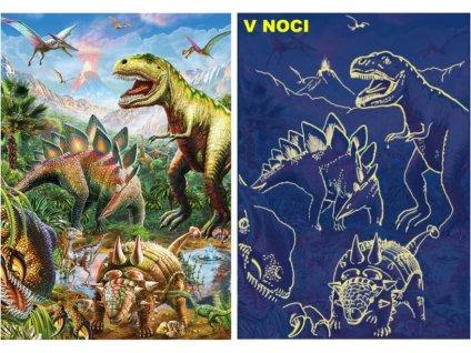 Svítící puzzle Svět dinosaurů XL 100 dílků