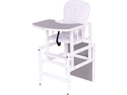 Borovicová židlička Drewex Antonín Medvídek a motýlek šedá