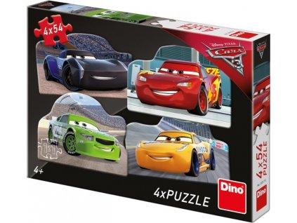 DINO Puzzle Auta 3: Rivalové 4x54 dílků