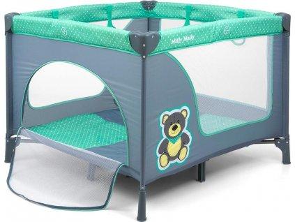 Dětská skládací ohrádka Milly Mally Fun Mint Bear