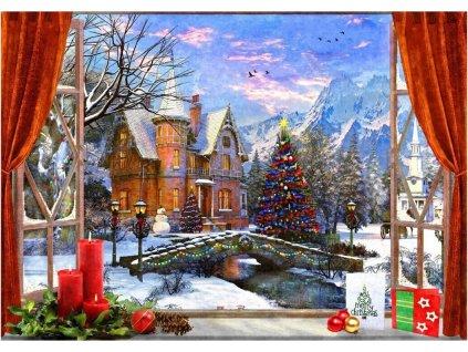 BLUEBIRD Puzzle Vánoční výhled 1500 dílků